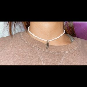 Jewelry - beaded necklace/choker!! (with charm, big clip)